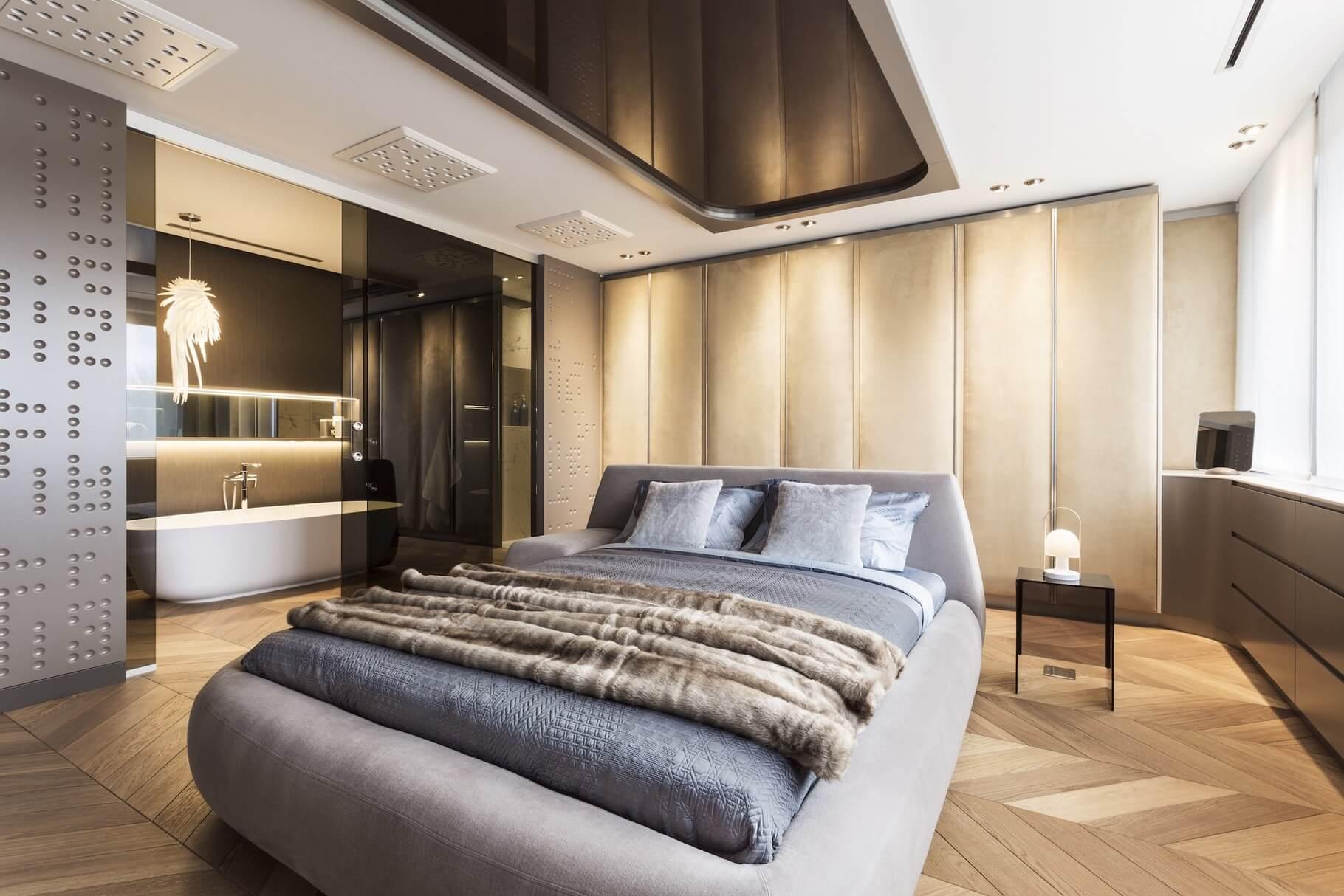 Sypialnia w apartamencie prywatnym